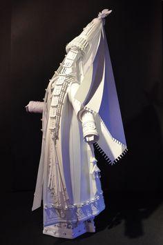 Wedding gear paper sculptures by Asya Kozina, via Behance