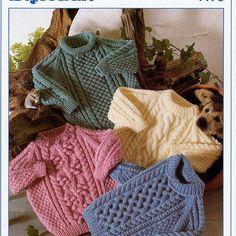 Free Baby Sweater Knitting Patterns, Jumper Patterns, Kids Patterns, Star Patterns, Clothes Patterns, Aran Jumper, Baby Sweaters, Aran Sweaters, Vintage Knitting