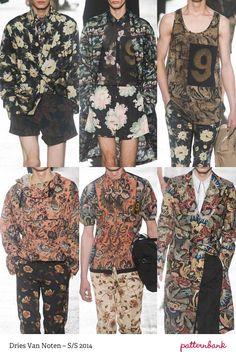 Menswear Paris Print & Pattern Highlights   Spring/Summer 2014  catwalks