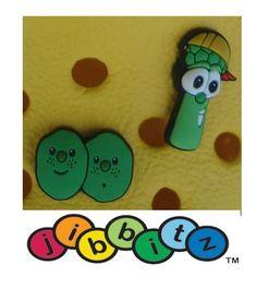 Jibbitz for Crocs : Veggie Tales Junior & French Peas (Set of 2)