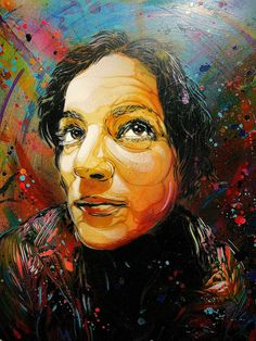C215 - Portrait of Alice Pasquini (2012) by C215, via Flickr