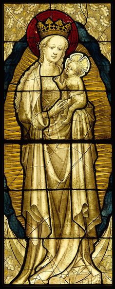 Stained Glass Panel with the Virgin and Child, 1430–35German