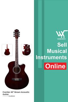 Now you can easily sell music instruments online by building a music instrument store. Display the collection and give the convenience to your customers to buy online. Get started with Webmerx. Sell Music, Ecommerce Solutions, Acoustic, Music Instruments, Guitar, Display, Store, Building, Stuff To Buy