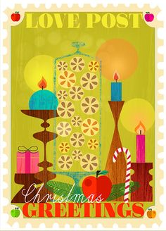 Love Post - one of my brand new Christmas Cards Designs by  Elisandra, via Flickr