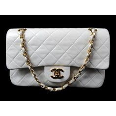 Vintage White Leather Chanel Classic Flap Shoulder Bag  Price: £950.00