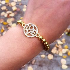 T & J designs gold bead love bracelet Beautiful new with tags gold beaf love bracelet. The right amount of bling for your special occasions but casual enough to rock it with your jeans too. 10 bracelets are available... T&J Designs Jewelry Bracelets