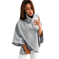 05626723ca1 Свитер Для женщин джемпер Демисезонный негабаритных свитера с длинным  рукавом Для женщин трикотаж свободные свитер женский нерегулярные пуловер  Q4 купить на ...