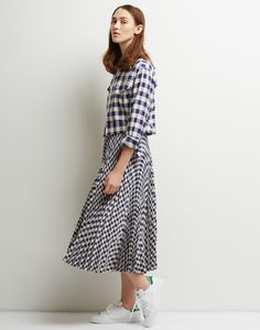 Le Ciel Bleu Gingham Check Jacket and Skirt
