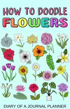 The best tutorials for learning how to draw plants and flowers! #doodles Easy Flower Drawings, Flower Drawing Tutorials, Drawing Flowers, Easy Drawings, Drawing Ideas, Bujo Doodles, Love Doodles, Simple Doodles, Bullet Journal Mood