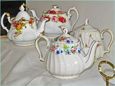 Old English Vintage China Teapots for hire