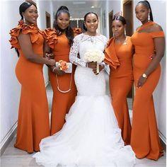 Exclusive Collection of Long Bridesmaid Dresses Burnt Orange Bridesmaid Dresses, African Bridesmaid Dresses, Cheap Bridesmaid Dresses Online, Mermaid Bridesmaid Dresses, Cheap Homecoming Dresses, Bridal Dresses, Black People Weddings, Black Weddings, Brides And Bridesmaids