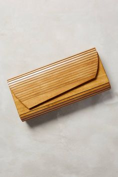 Hardwood Clutch by Inge Christopher #anthrofave #anthropologie