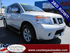 2012 NISSAN ARMADA -- With ONLY 54,086 MILES! -- 3rd-ROW Seating! -- Clean CAR-FAX! -- Price INCLUDES A 3 MONTH/3,000 Mile WARRANTY! -- CALL TODAY! * 757-424-6404 * FINANCING AVAILABLE! -- Courtesy Auto Sales SPECIALIZES In Providing You With The BEST PRICE On A USED CAR, TRUCK or SUV! -- Get APPROVED TODAY @ courtesyautosales.com * Proudly Serving Your USED CAR NEEDS In Chesapeake, Virginia Beach, Norfolk, Portsmouth, Suffolk, Hampton Roads, Richmond, And ALL Of Virginia SINCE 1976!
