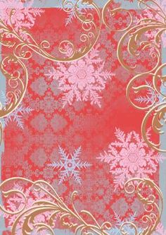 Christmas Mary and Roses Swirl Backing Paper on Craftsuprint designed by Ann-marie Vaux - This paper is a great backing paper for your christmas projects, and will look great on your cards.  - Now available for download!