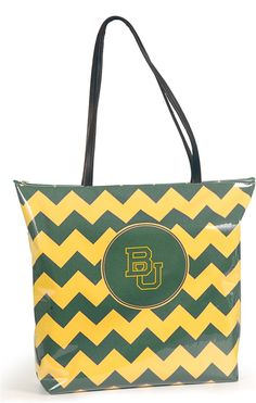 Baylor University Large Chevron Shopper Tote >>> Be sure to check out this awesome product. (This is an Amazon Affiliate link)