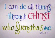 Christ strengthens