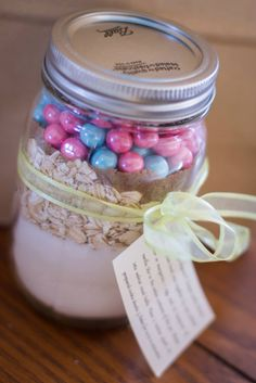 Baby Shower Ideas For A Girl Baby Shower Party Favors Cookie Mix In A Ball  Mason