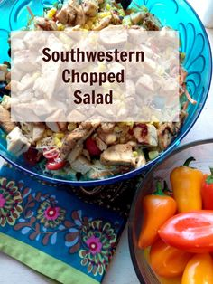 {Southwestern Chopped Salad} I've been making this once or twice a week for months now - one of my favorite low-carb meals EVER!