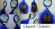 Blue & Peacock DreamCatcher Earrings