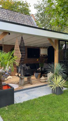 Backyard Pavilion, Backyard Seating, Garden Seating, Pergola Patio, Garden Gazebo, Back Garden Design, Small Backyard Design, Small Backyard Landscaping, Backyard Covered Patios