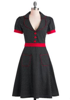 1950s themed party. Perhaps I'll summon my inner Lucy. Add red headband, red platform peeptoes and a boufont hairstyle.  Worn With Aplomb Dress, #ModCloth