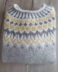 Bilderesultat for islandsgenser Sweater Knitting Patterns, Knitting Designs, Knit Patterns, Knitting Projects, Fair Isle Knitting, Hand Knitting, Pull Jacquard, Norwegian Knitting, Icelandic Sweaters