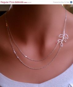 Branch double strand sterling silver necklace.