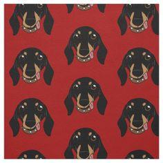 The cute Dachshund short-legged doggie friend Fabric   dachshund tattoos, funny dachshund pictures, dachshund vintage art #dachshundsofmiami #dachshundshirt #dachshundsforever