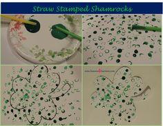Straw Stamped Shamrocks