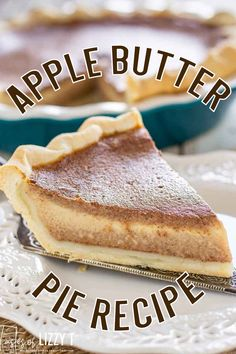 The texture of pumpkin pie with the taste of apple! Apple Butter Pie has a 5 minute filling bursting with traditional fall flavor. Apple Recipes, Fall Recipes, Baking Recipes, Sweet Recipes, Kitchen Recipes, Vegan Recipes, Pie Dessert, Eat Dessert First, Dessert Recipes