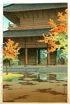 Hasui Kawase: Nanzenji Temple in Autumn (1951)