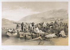 'Embarkation of the Sick at Balaklava', by William Simpson, 1854 (lithograph). William Simpson (1823-99) was a Scottish painter who became noted for his depictions of the Crimean War (1853-6)