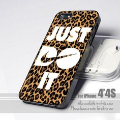 Nike Just Do It Leopard 4 Design for iPhone 4 or 4s Case