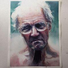 Terça-feira #aquarela #watercolor 33x44 cm. Workshop em SP: 1 e 2 de outubro. Inscrições:contato@pleinairstudio.com.br.