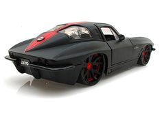 split-window Chevy Corvette Stingray LOPRO Black w/ extra rims 1963 Corvette Stingray, Corvette C2, Classic Corvette, Chevrolet Corvette, Chevy, Hot Rods, Supercars, Dodge, Sweet Cars