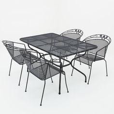 Kettler Toledo stapelbaar met strekmetalen tafel 145x90cm