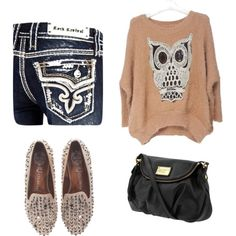 """Owl Top"" by jademcloud on Polyvore"