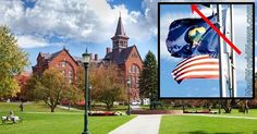 BLM Greets University Students With Sick Thing Next To American Flag