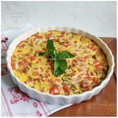 Clafoutis au thon, tomates et olives ~ Recette Weight Watchers : légère et gourmande de clafoutis avec du thon, des tomates et des olives. Recette facile :)