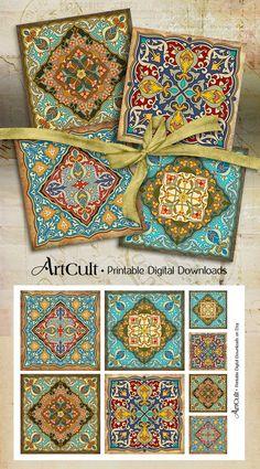 Ornamento marroquí imágenes orientales posavasos por ArtCult
