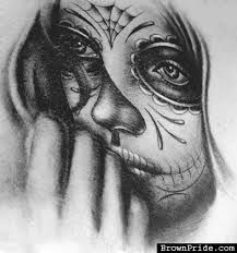 Image result for day of the dead woman face drawing