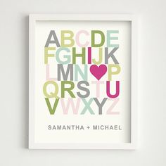 love this for a nursery with the child's name instead of a couple's