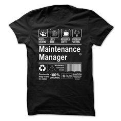 Awesome Maintenance Manager Shirt.-qfzxsyhbmi T Shirt, Hoodie, Sweatshirt