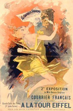 Affiche du Courrier Français, par Jules Chéret (1891)