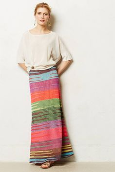 Rio Afternoon Maxi Skirt - anthropologie.com Use the Navaho red fabric for this!