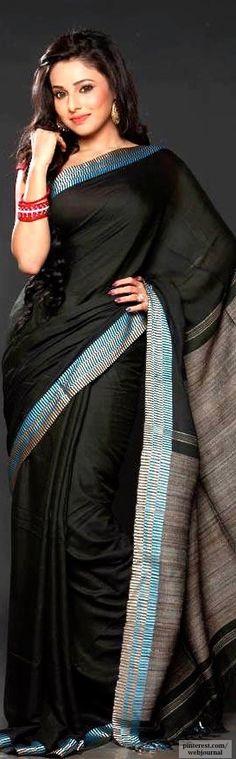 Bengal handloom Matka silk with Ghicha border - Tantghar.com