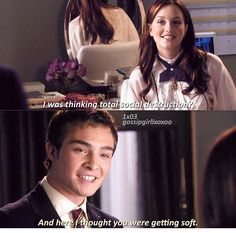 Chuck and Blair ❤️ Chair