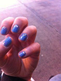 Essie Lilac blue with Crystal AB Swarovski stones