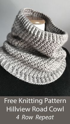 Snood Knitting Pattern, Knitting Patterns Free, Knit Patterns, Free Knitting, Aran Weight Yarn, Knit Or Crochet, Knitted Cowls, Knitted Scarves, Quick Knits