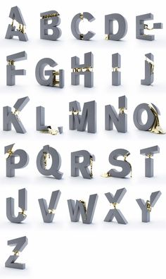 Typeface: Gold Filling on Behance